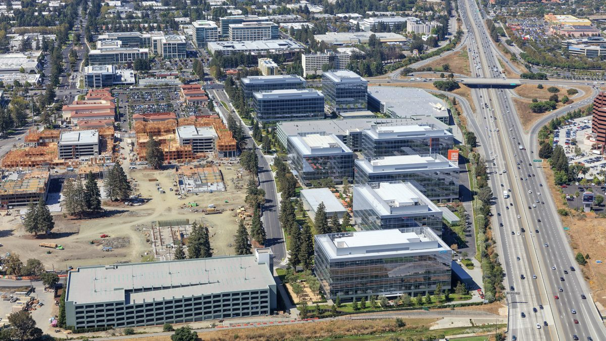 Aerial photography of Santa Clara Square campus