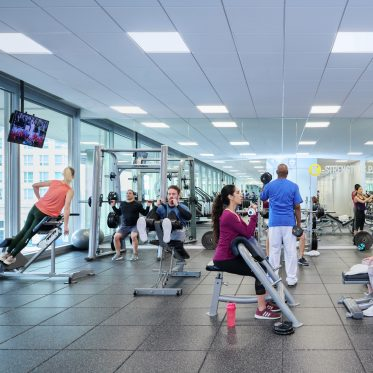 Fitness center at 300 North LaSalle office building.