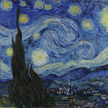 Painting of Starry Night by Vincent van Gogh