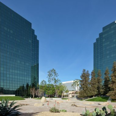 Exterior views of Skypark Business Center at the Irvine Business Complex. Snipes 2008.