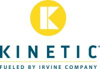 Vector Kinetic logo in horizontal format with fueled by Irvine Company tagline