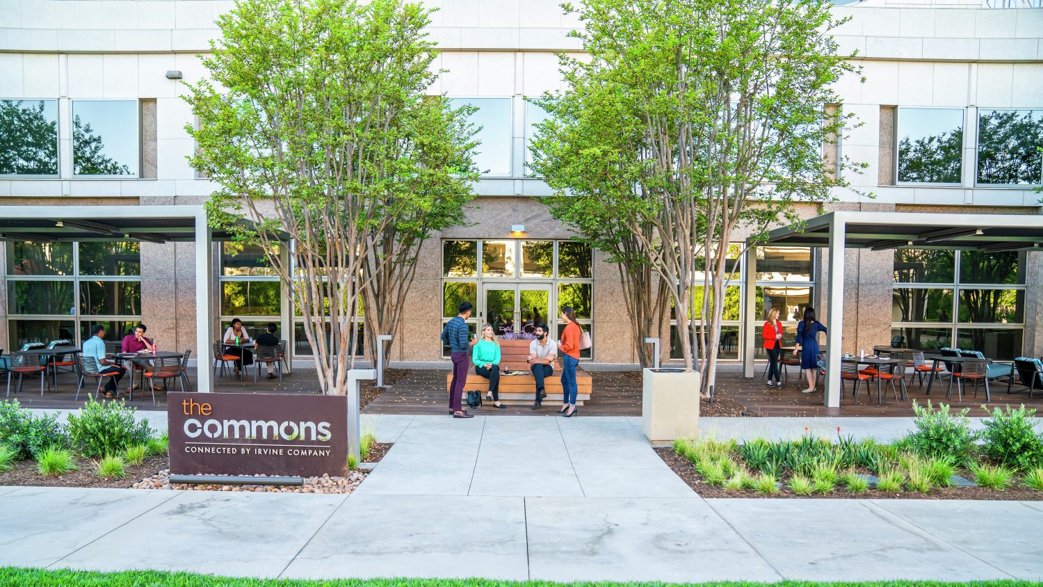 Lifestyle photography of The Commons at 100 Spectrum Center Drive in Irvine, CA