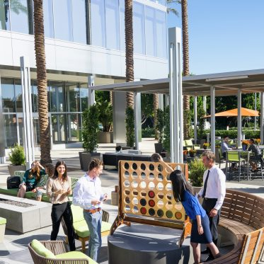 Lifestyle photography of the Commons at 400 Spectrum Center, Irvine, Ca