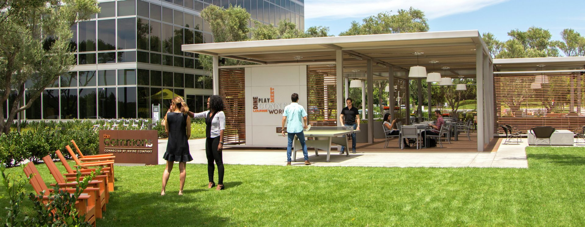 Outdoor workspace / The Commons photography at Sand Canyon Business Center in Irvine, CA
