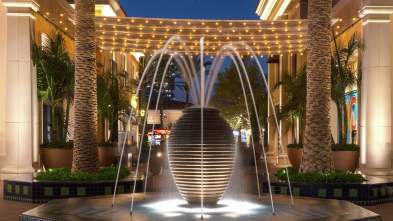 Photography of retail options at Irvine Spectrum Center in Irvine, CA