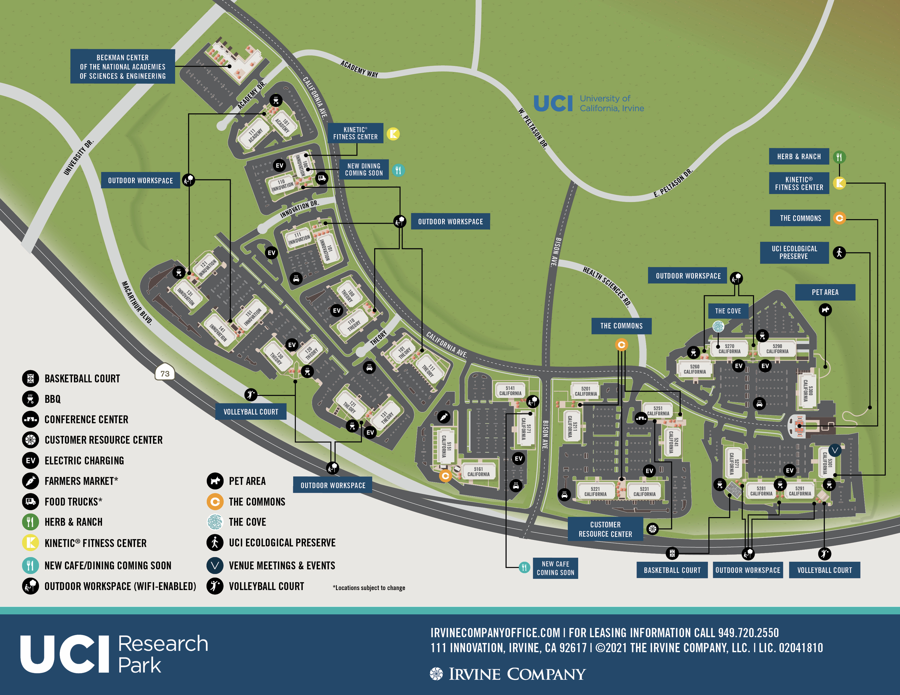 Site Map for UCIRP located in Irvine, CA