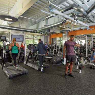 Photography of the fitness center at Paseo Del Mar in San Diego, CA
