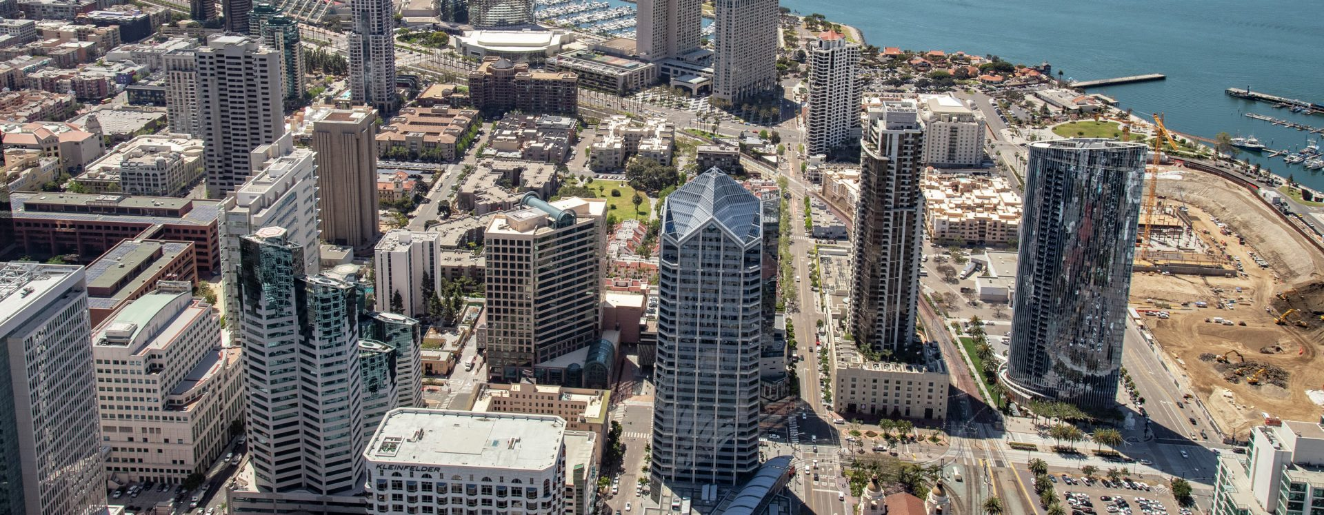 Aerial view of Downtown San Diego.