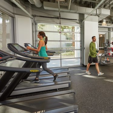 Fitness center photography at La Jolla Reserve in San Diego, CA