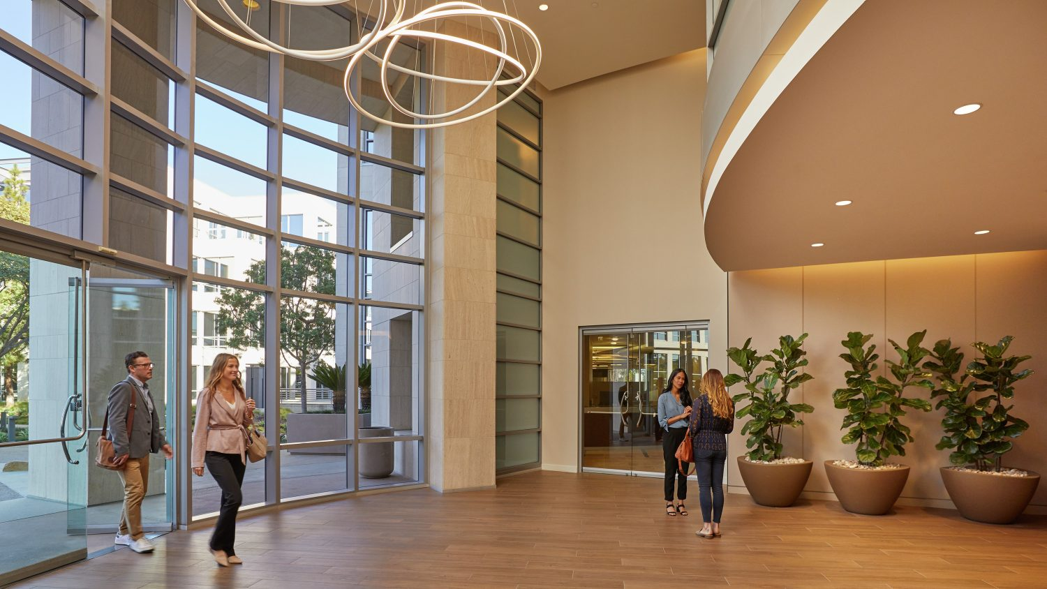 Rendering of the 4435 Eastgate lobby at La Jolla Reserve in San Diego, CA
