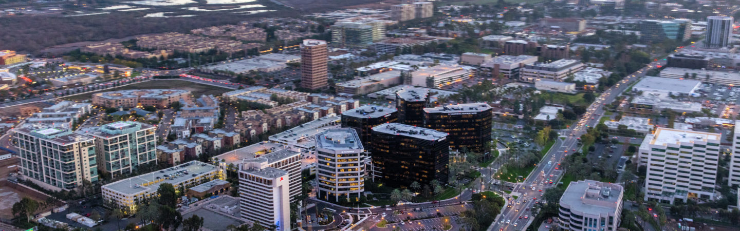 Aerial photography of Irvine Towers in Irvine, CA
