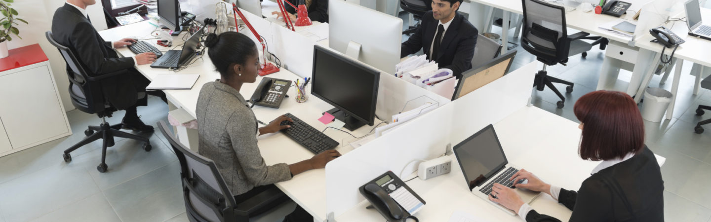 Businesspeople working in an office