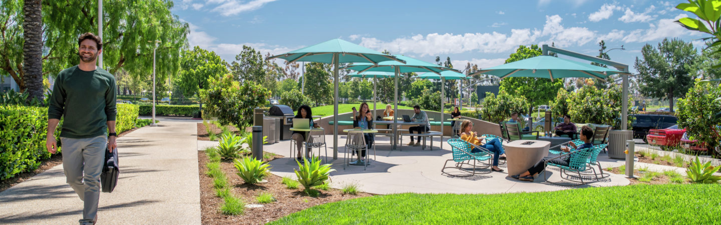 Lifestyle photography of Jamboree Business Center - The Commons by 2875 Michelle Drive in Irvine, CA