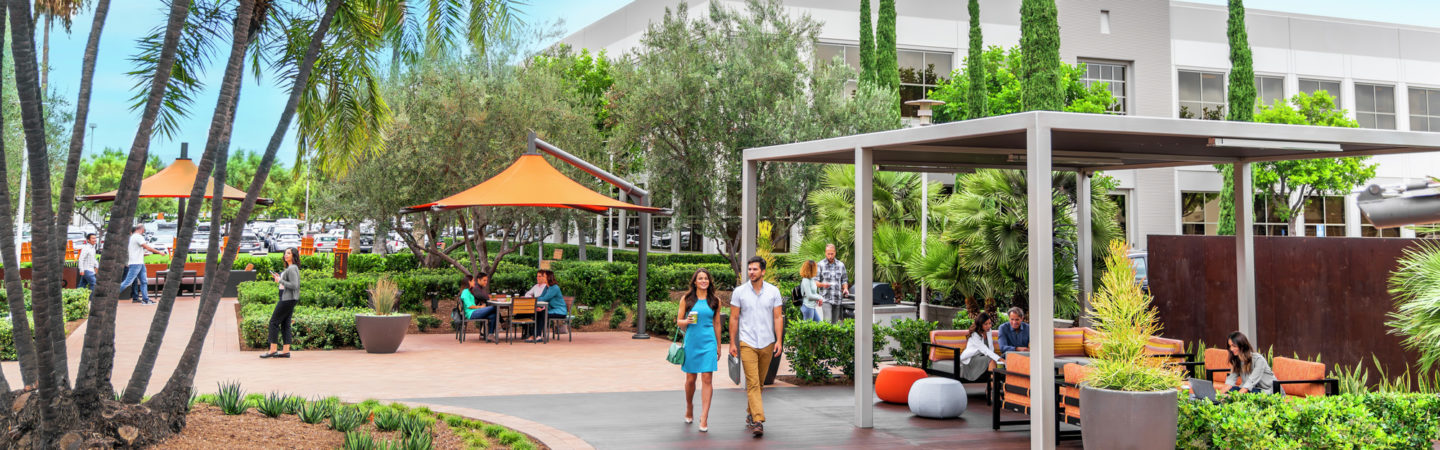 Lifestyle photography of The Commons at Discovery Park in Irvine, CA