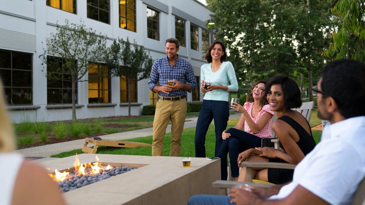 Fire pit at URP, University Research Park, Irvine, Ca